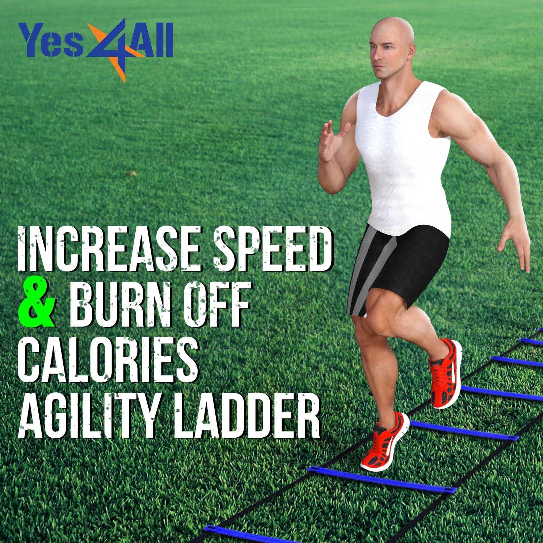 /Multi Wahl: 8 12 Yes4All Speed und Agility Training Leiter mit Tragetasche/ 20/Sprossen