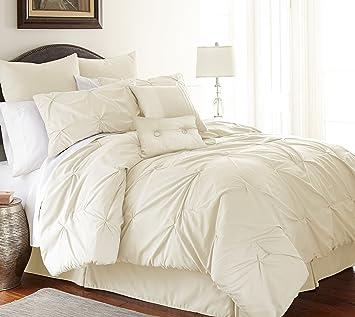 ella collection 8piece pin tuck comforter set ultrasoft u0026