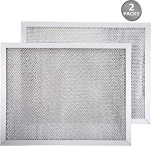 2 Packs Aluminum Range Hood Grease Filter Range Hood Filter Hood Vent Filter Compatible with 97006931 Model GE Kenmore 99010121 Broan BP29 Gxfc, 8-3/4 x 10-1/2 x 3/32 Inch