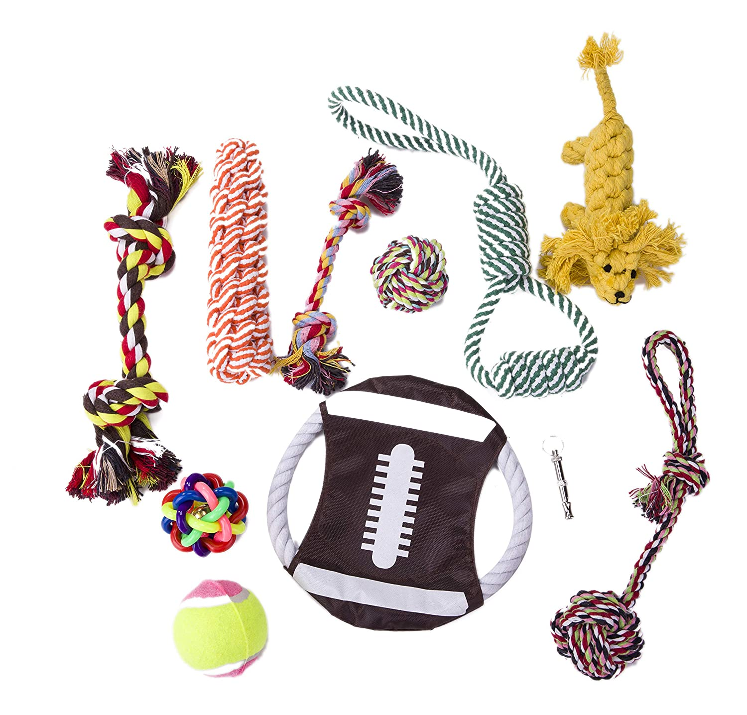 11 pack MAXIM1992 Dog Toys Set Dog Chew Toys and Ball Ropes Dog Training Toys for Small Medium and Large Dogs (11 Pack)