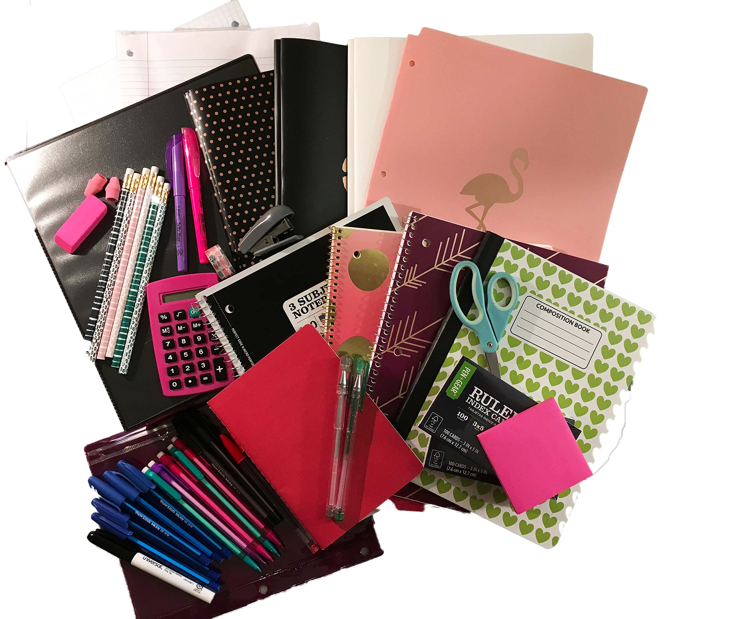 Live With Flowers Trendy Middle School to College Back to School Complete Supply Bundle Kit