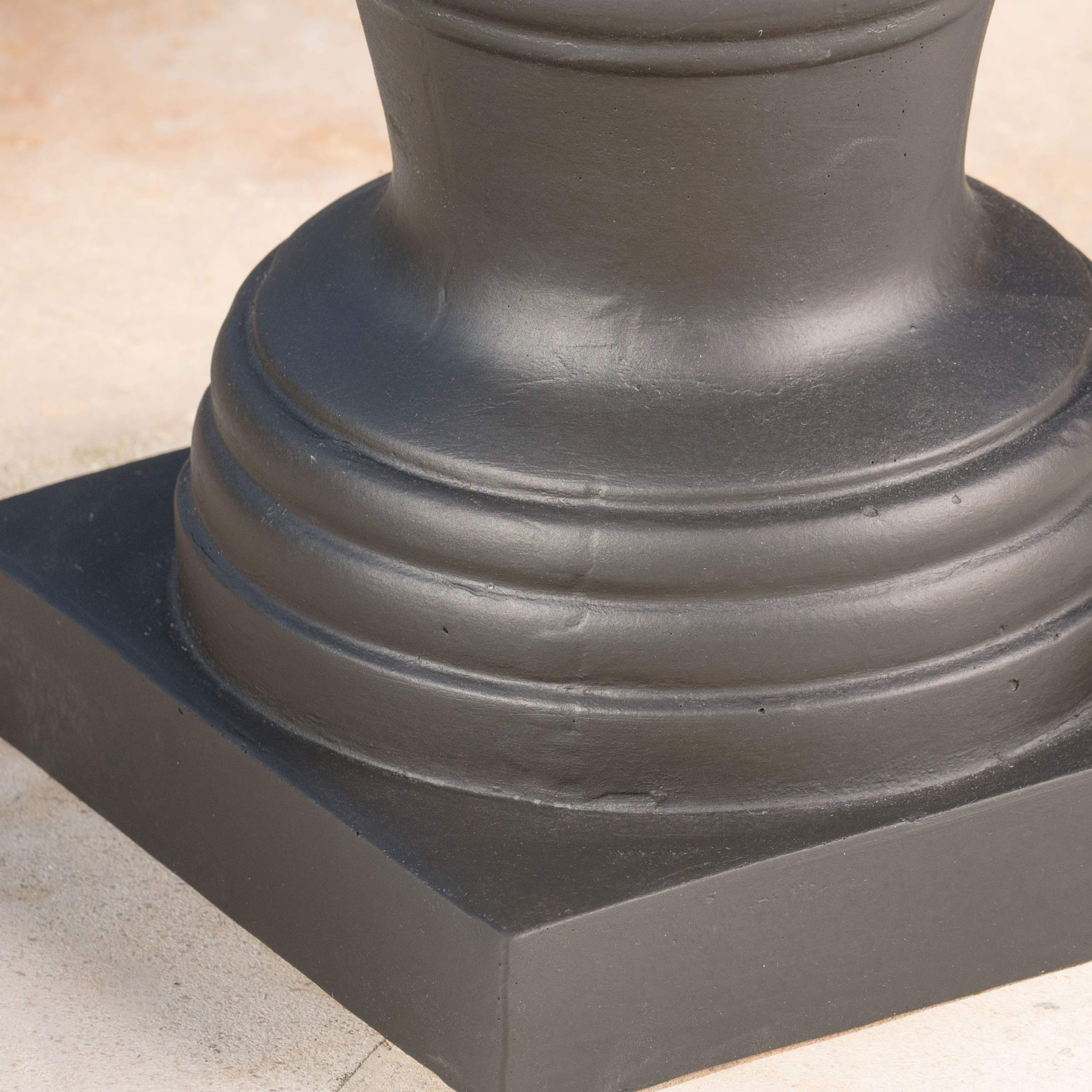 Great Deal Furniture Shiny Outdoor Matte Black Finished Cast Stone Urn by Great Deal Furniture (Image #5)