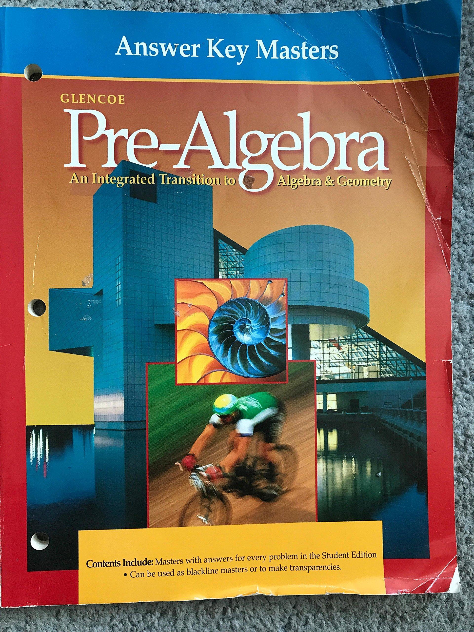 Answer Key Masters (Glencoe Pre-Algebra) (Glencoe Pre-Algebra ...