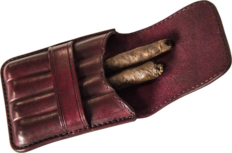 bordeaux - Made in Italy 1-4 cigares Etui /à cigares en cuir haute qualit/é Artiglieria Fiorentina