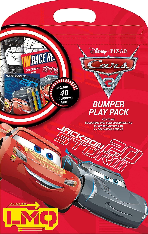 Disney Pixar Cars 3 Play Pack Colouring Pads Pencils Childrens Activity Set
