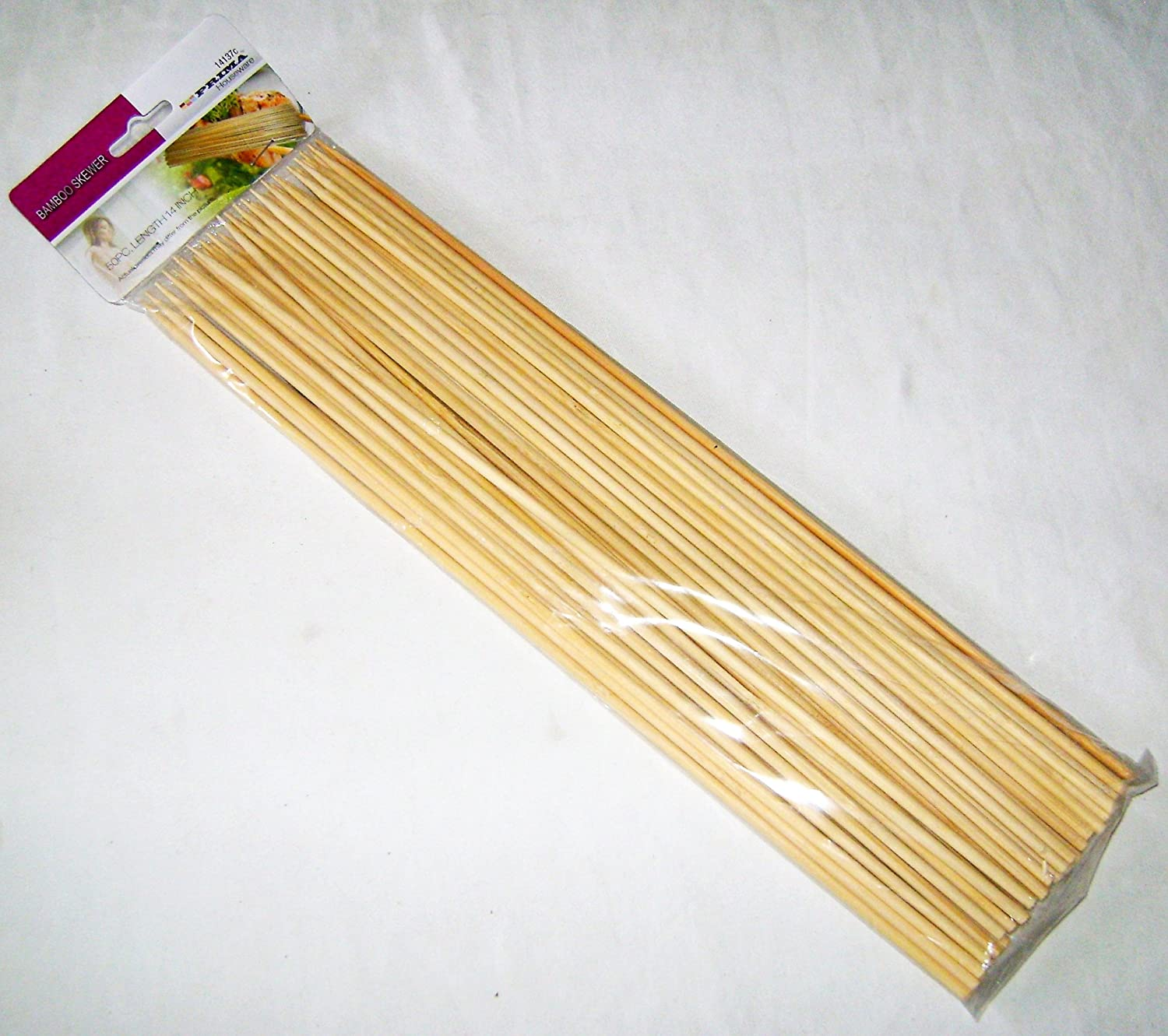 12-Inch Bamboo Skewers Sticks 150pcs For BBQ Kebab Fruit BBQ Wooden Sticks UK