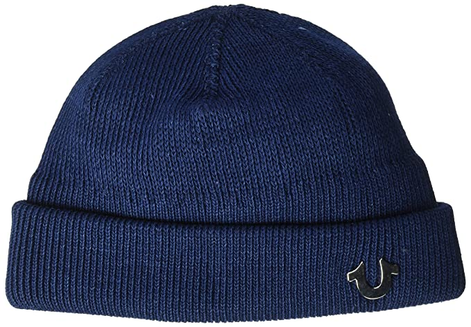 9dc25f3b1e2 True Religion Men s Indigo Dyed Watchcap Beanie Hat
