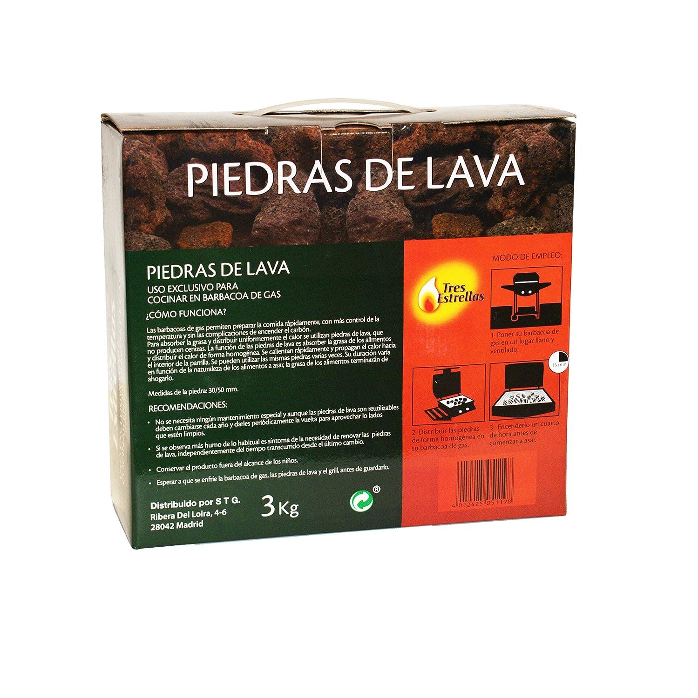 Piedras Volcánicas para Barbacoa, 3 kg | Rocas de Lava Perfectas para Cocinar en Parrilla Eléctrica: Amazon.es: Jardín