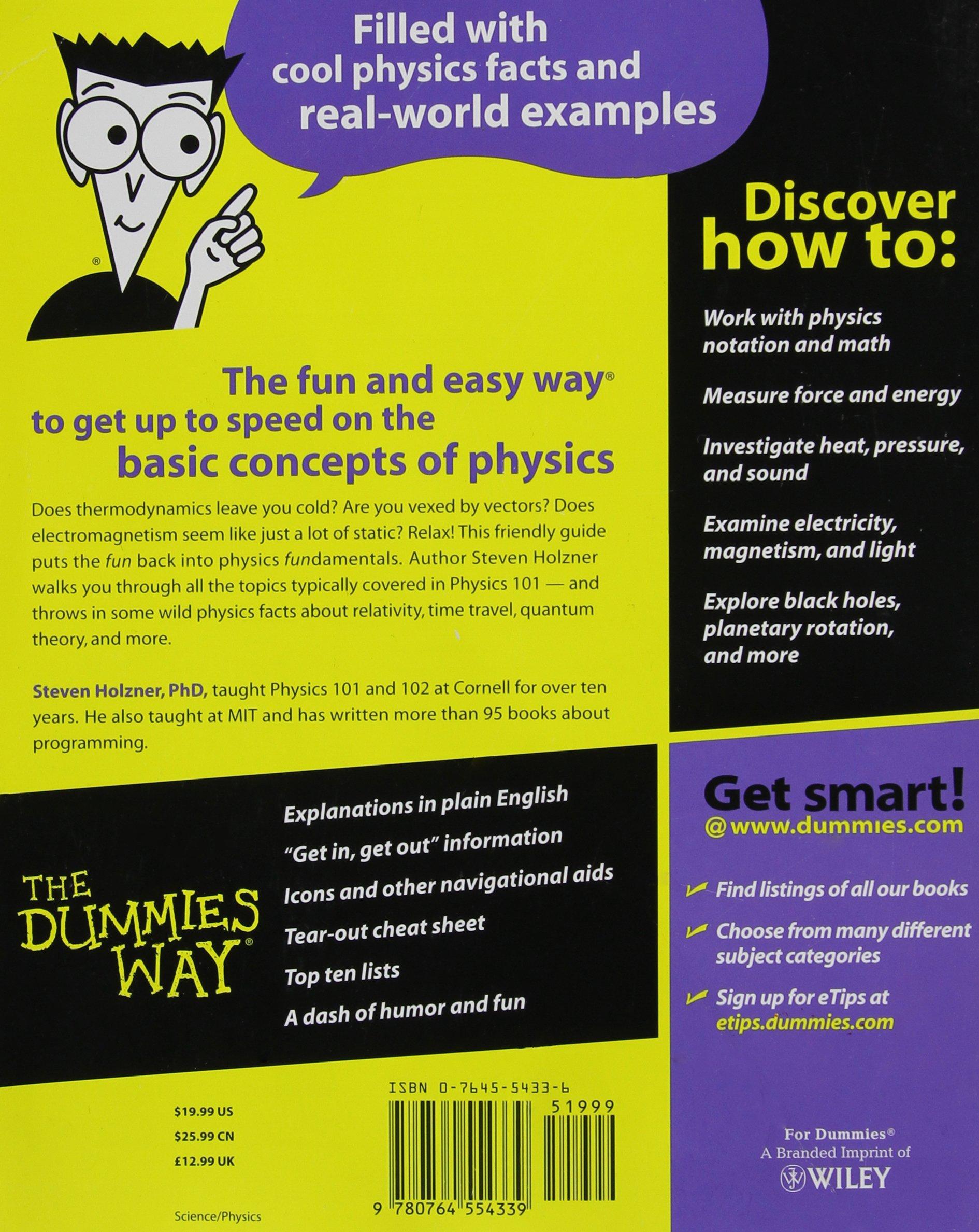 Physics For Dummies: Steve Holzner: 0785555107915: Amazon.com: Books