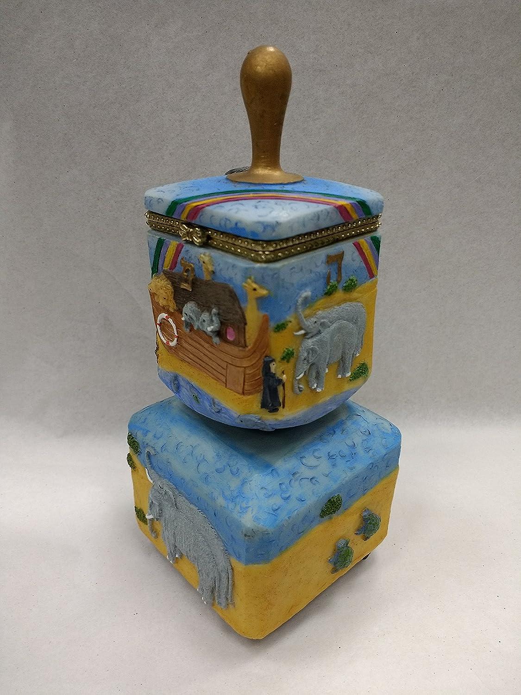 超歓迎された Decorative Musical Dreidel Hingedボックス – Plays Musical Noah's Dreidel Song Plays、手描き ブルー B077H6K5YK Noah's Ark, Karei:7def7c0e --- arianechie.dominiotemporario.com