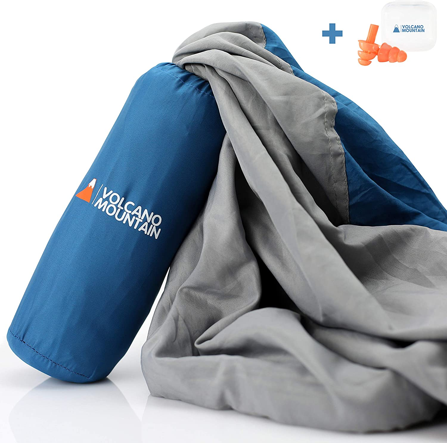 Volcano Mountain Sleeping Bag Liner - Adult Sleep Sack -Travel Sleeping Liner- Lightweight Camping Sheets Great For Camping, Traveling, Backpacking & Hotels.