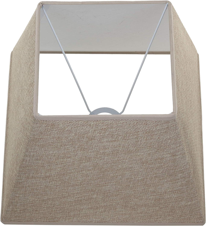 CAMEL dimensions inf/érieures : 29,5 x 29,5 cm Better /& Best Abat-jour carr/é en lin couleur grise hauteur : 17,5 x 17,5 cm 30,5 cm