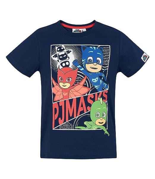 PJ Masks Chicos Camiseta Manga Corta - Azul Marino