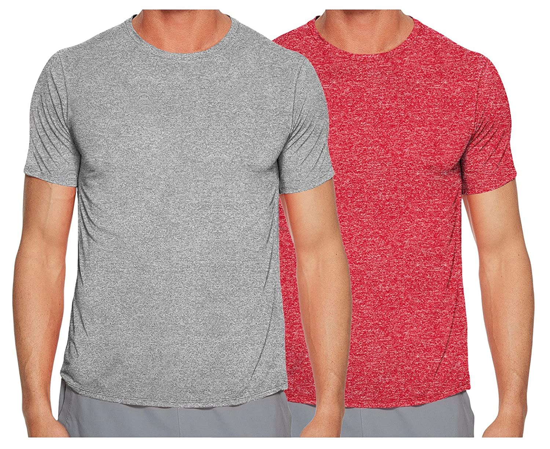 TEKFIT Men's 2-Pack Athletic Quick Dry T-Shirts, Premium Stretch Fabric (2pcs Set)