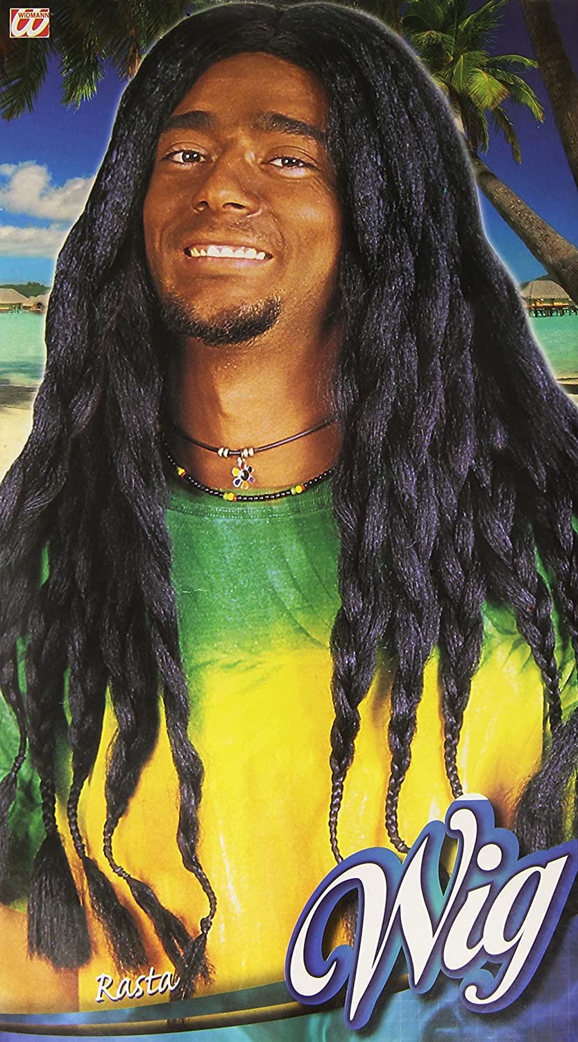 Mens BLACK RASTA WIG - FANCY DRESS ACCESSORIES (peluca): Amazon.es: Juguetes y juegos