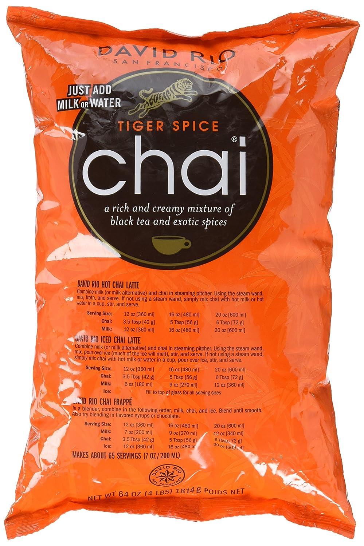 David Rio Food Service Bag Tiger Spice Chai, 1 Pack (1 x 1.8 kg)