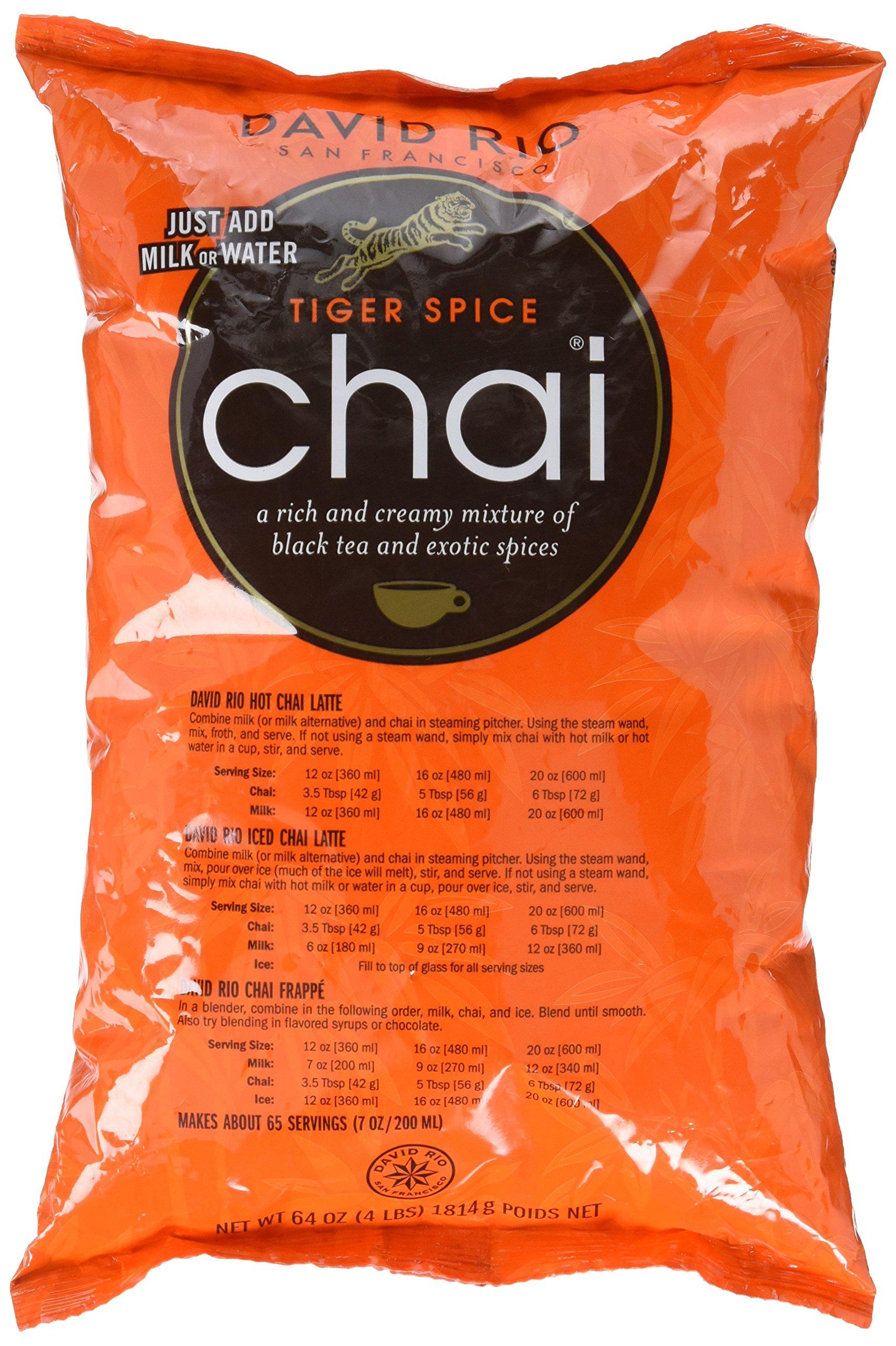 David Rio Food Service Bag Tiger Spice Chai, 1 Pack (1 x 1.8 kg) by David Rio
