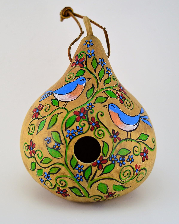 Birdhouse, Gourd Art, Natural Garden, Garden Art, Wren House, Robin, Bird Lover, Functional Art, Folk Art, Outdoor Decoration, Yard art, Bluebird
