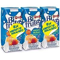Bifrutas - Mediterráneo - Bebida Refrescante con Leche y Zumo de Frutas - 3 x 330