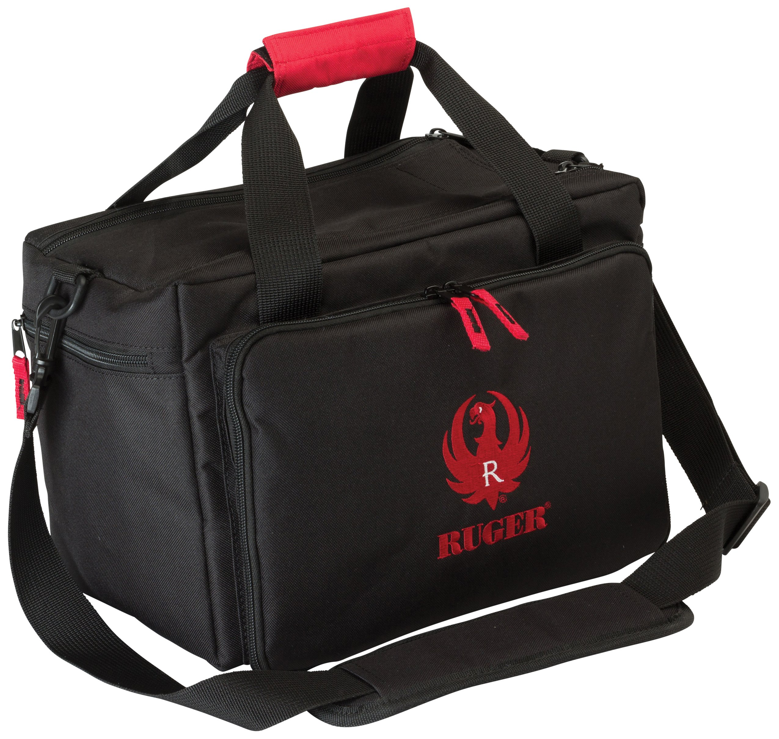 Allen Ruger Shooting Range Bag with Pistol Rug, MOLLE Loops & Ammo Carrier by Allen Company