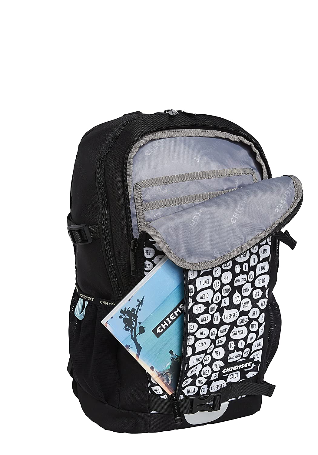 aae54bf1254 Chiemsee Bags Collection School Backpack, 47 cm, Multicolour (1090 White/ Black): Amazon.co.uk: Luggage