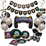 Video Game Party Supplies For Kids. Add To Your Gaming Party Supplies! Gamer Party Supplies with Plates, Balloons and MORE! G