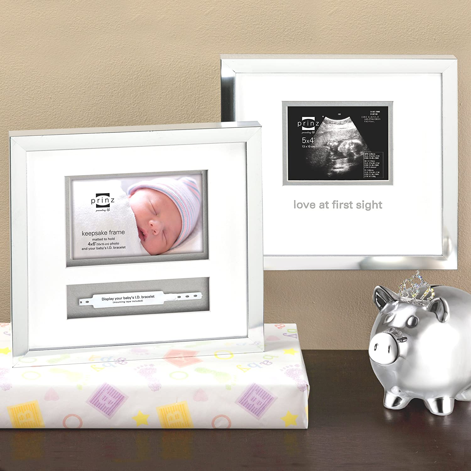 Amazon.com: Prinz 5x4 Little Miracle Sonogram Frame in Silver Finish ...