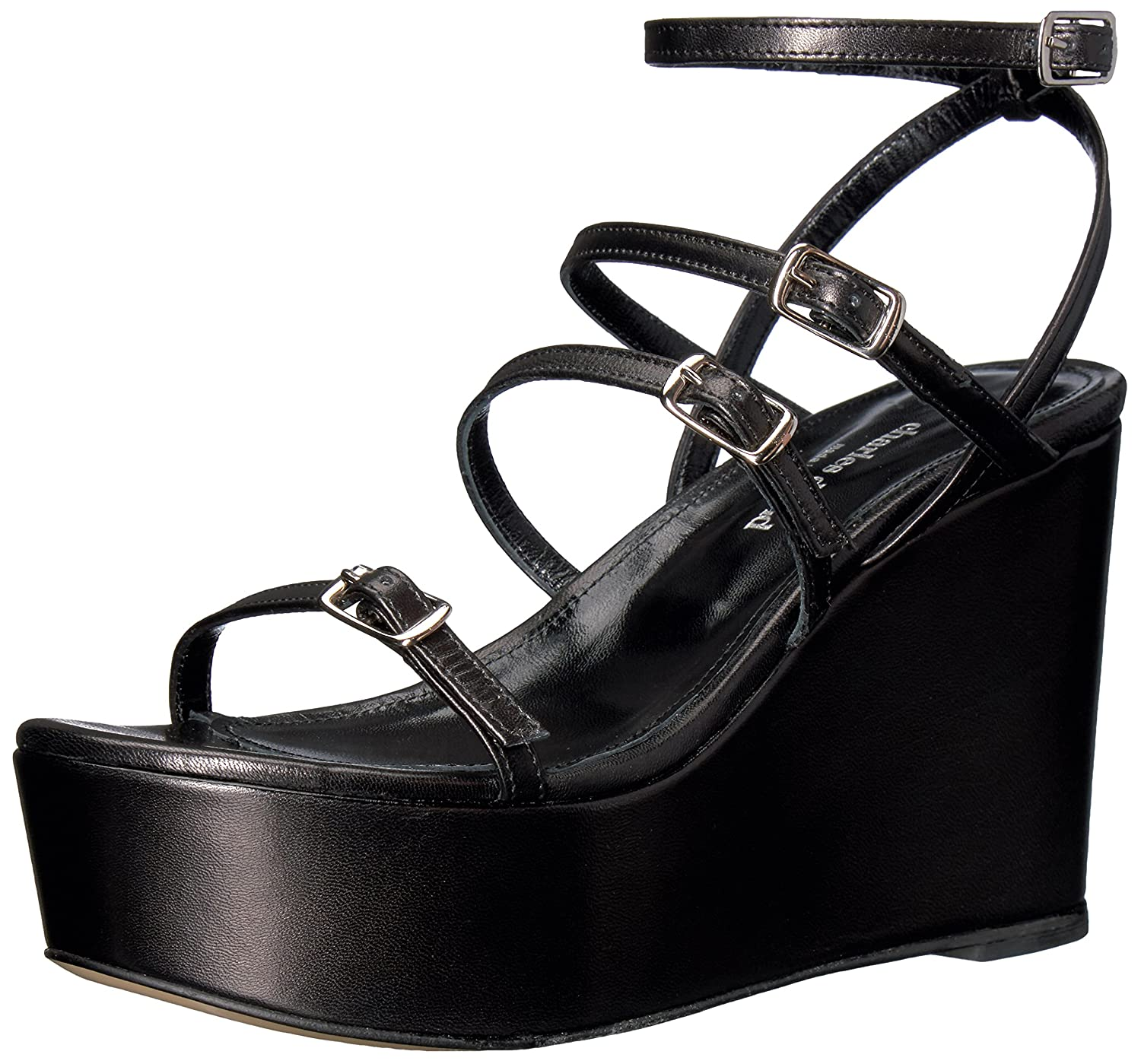 Charles David Women's Penelope Platform Dress Sandal B01M2CRMHM 10 B(M) US|Black