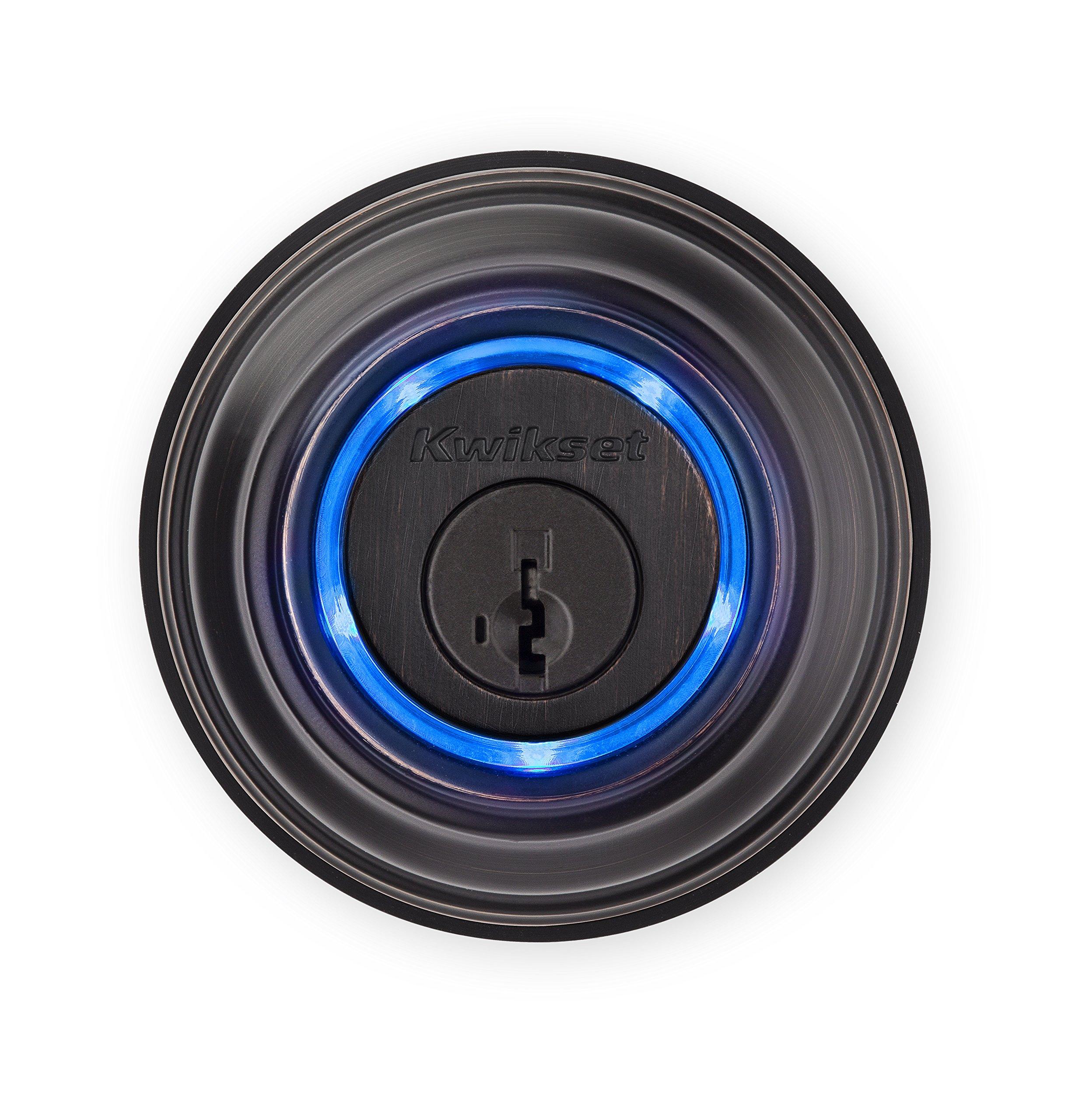 Kwikset Kevo (2nd Gen) Touch-to-Open Bluetooth Smart Lock, Works with Amazon Alexa via Kevo Plus, in Venetian Bronze by Kwikset