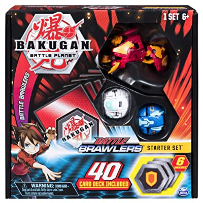 Bakugan, Battle Brawlers Starter Set Transforming Creatures, Pyrus Hydorous, for Ages 6 and Up: Toys & Games