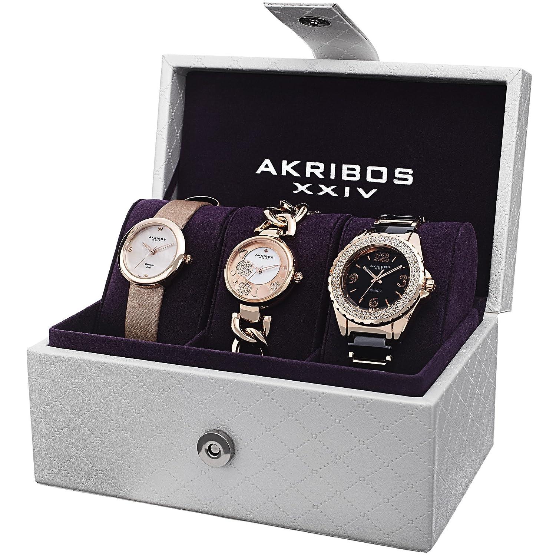 Amazon akribos ak766rg ladies 3 piece gift set akribos xxiv amazon akribos ak766rg ladies 3 piece gift set akribos xxiv watches negle Image collections