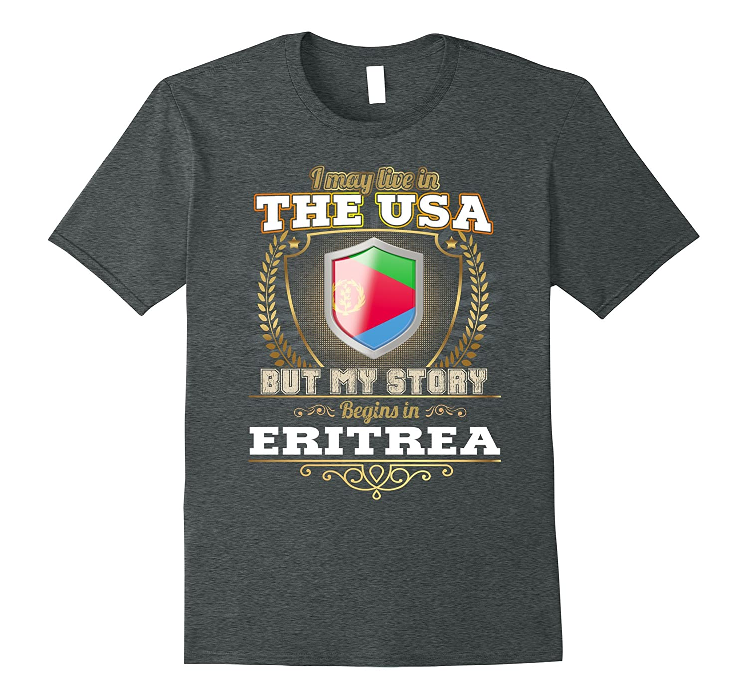 Live in the USA – My story begins in ERITREA t shirt