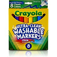 Crayola 5878080006 Plumón Grueso Lavable, Paquete de 8