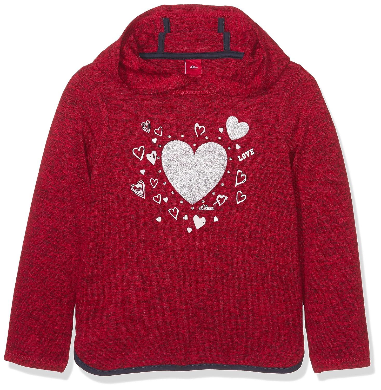 s.Oliver Mädchen Sweatshirt Rot (Red Melange 31W7) 53.709.41.3144