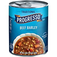 Progresso Soup, Traditional, Beef Barley Soup, 19 oz Can (Pack of 12)