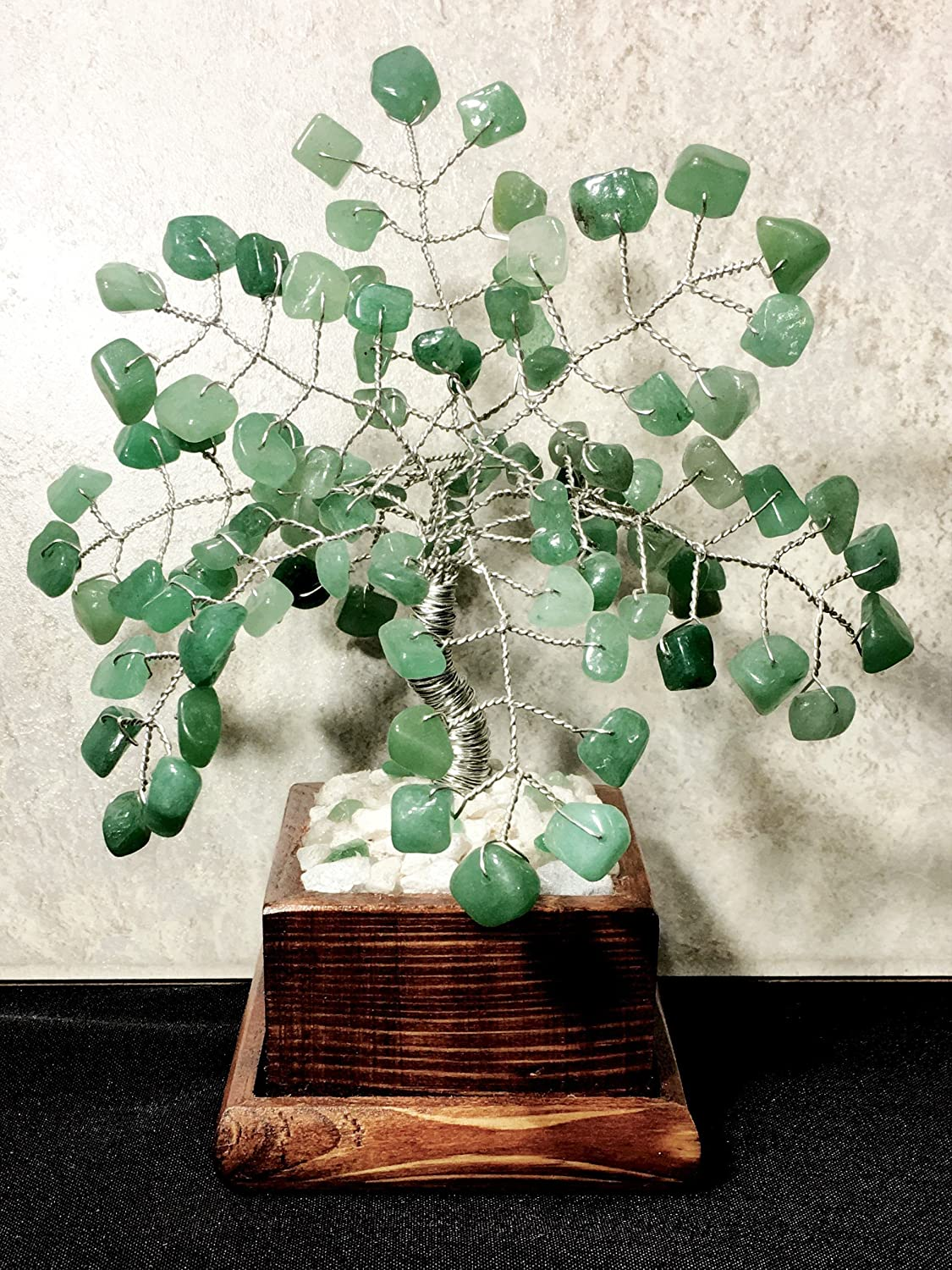 Green Adventurine Crystal Gemstone Bonsai Tree, Wire Tree Of Life, Feng Shui Décor, Gemstone Tree, Healing Gemstone Bonsai Tree Feng Shui Décor