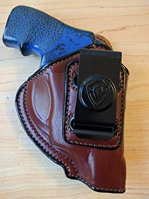 LEATHER IWB Holster Ruger LCR 38 Spl +P 2 INCH Barrell. Brown R/H