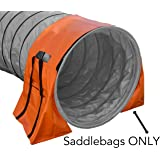 Agility Tunnel Bag Holder - Non-Constricting Saddlebags for Stabilizing Dog Agility Tunnel Equipment Indoor or Outdoor, Orange Color