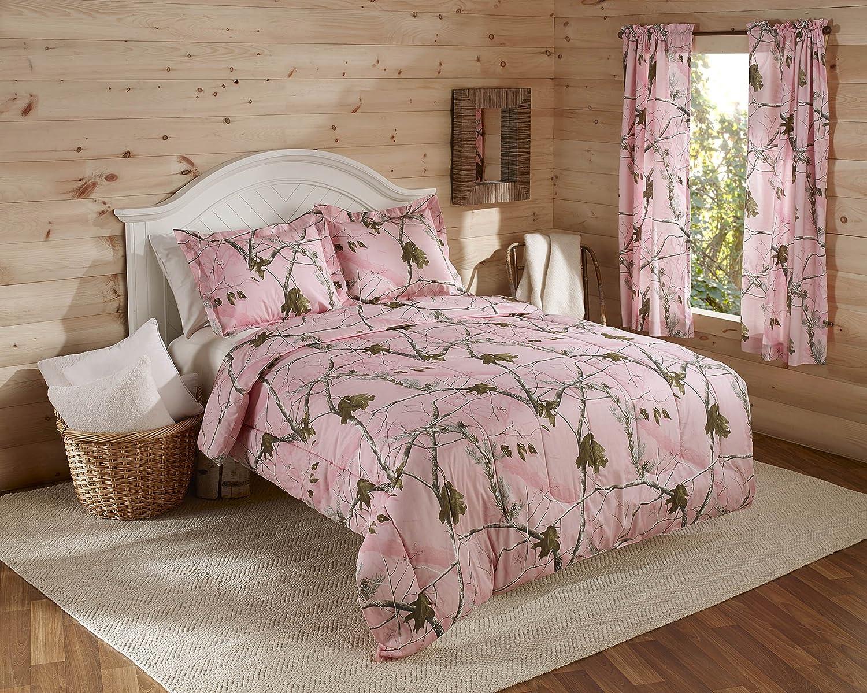 Realtree AP Mini Comforter Set, Twin, Pink, Camo