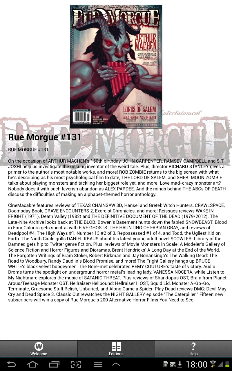 Rue Morgue Appstore For Android Elex Idea Blog Electronic Watchdog