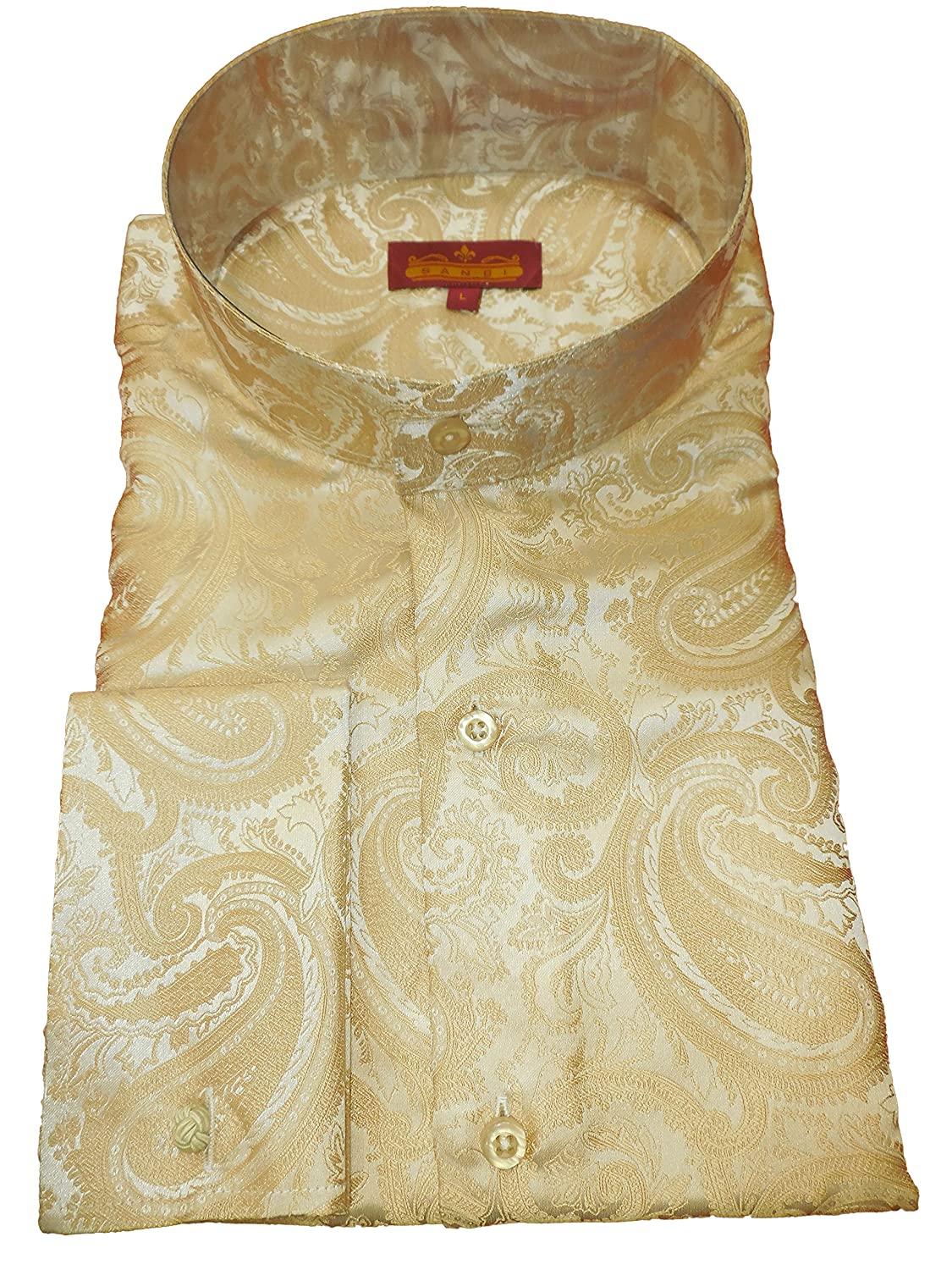 Sangi 1018 Mens Sophisticated Light Gold Paisley Tall Victorian
