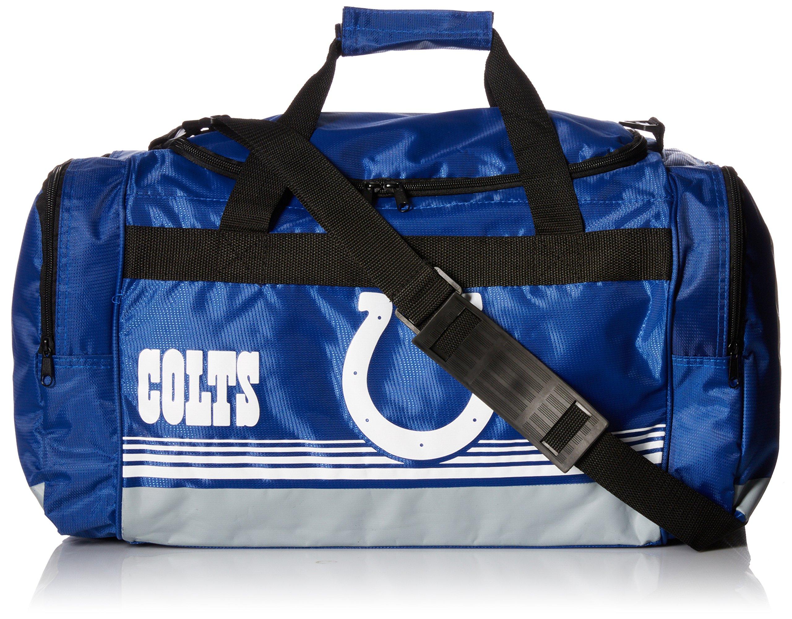 FOCO Indianapolis Colts Medium Striped Core Duffle Bag