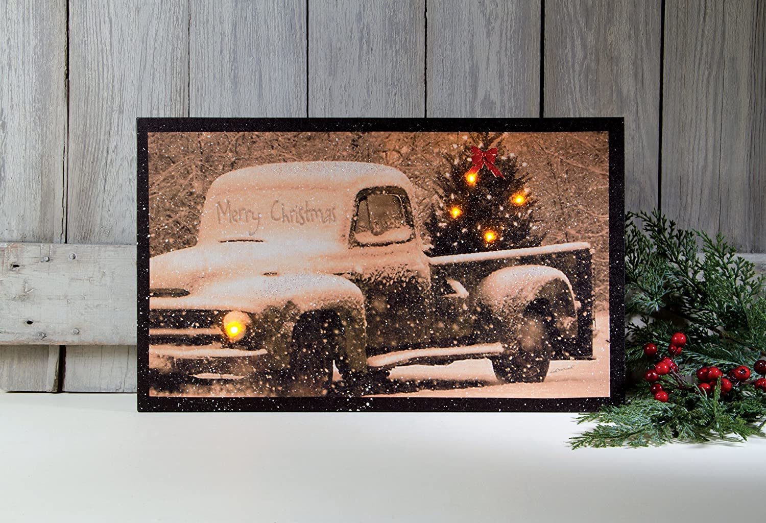 Ohio Wholesale Radiance Lighted Merry Christmas Pick Up Truck Canvas Wall  Art, From Our Christmas Collection: Amazon.ca: Home U0026 Kitchen