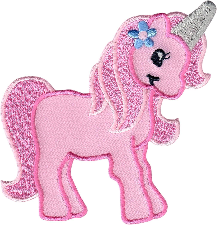 Xl Patch Einhorn rosa Regenbogen mit Pailletten Pferd Bügelbild DIY Applikation