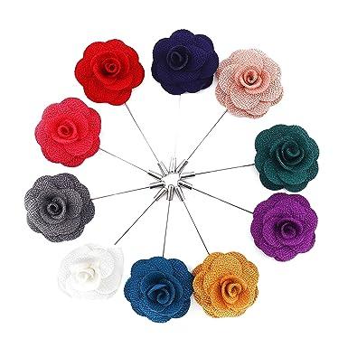 Boutonniere Ansteckblume Handgemachte Blumen Der Männer Mit