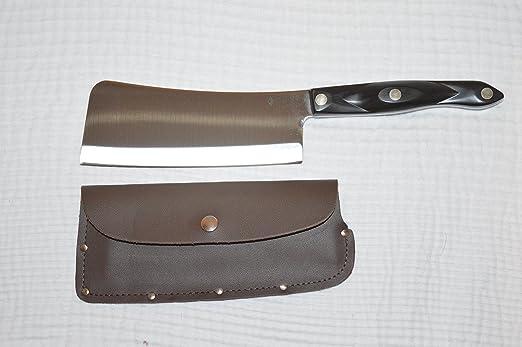 Compra Cuchillo de carnicero Cutco #1737 con funda de cuero ...
