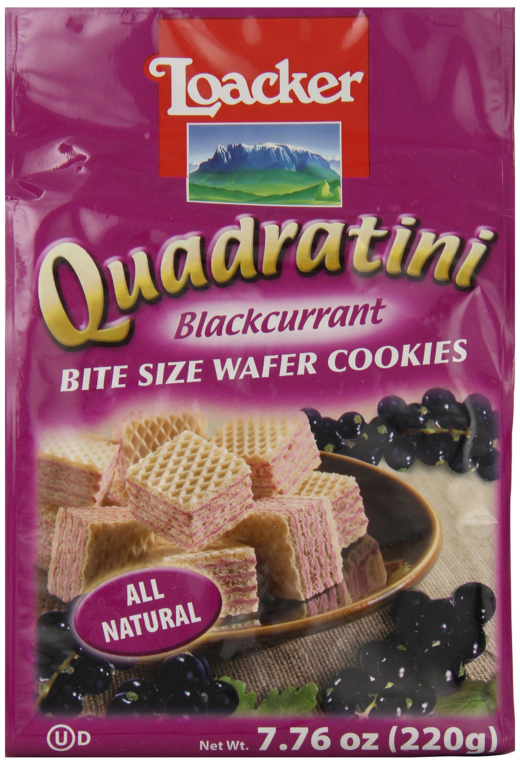 Loacker Quadratini, Black Currant, 7.76-Ounce (Pack of 8)