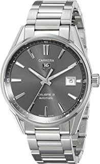 tag heuer men s wv211b fc6202 carrera automatic watch tag heuer tag heuer calibre automatic mens watch war211c ba0782