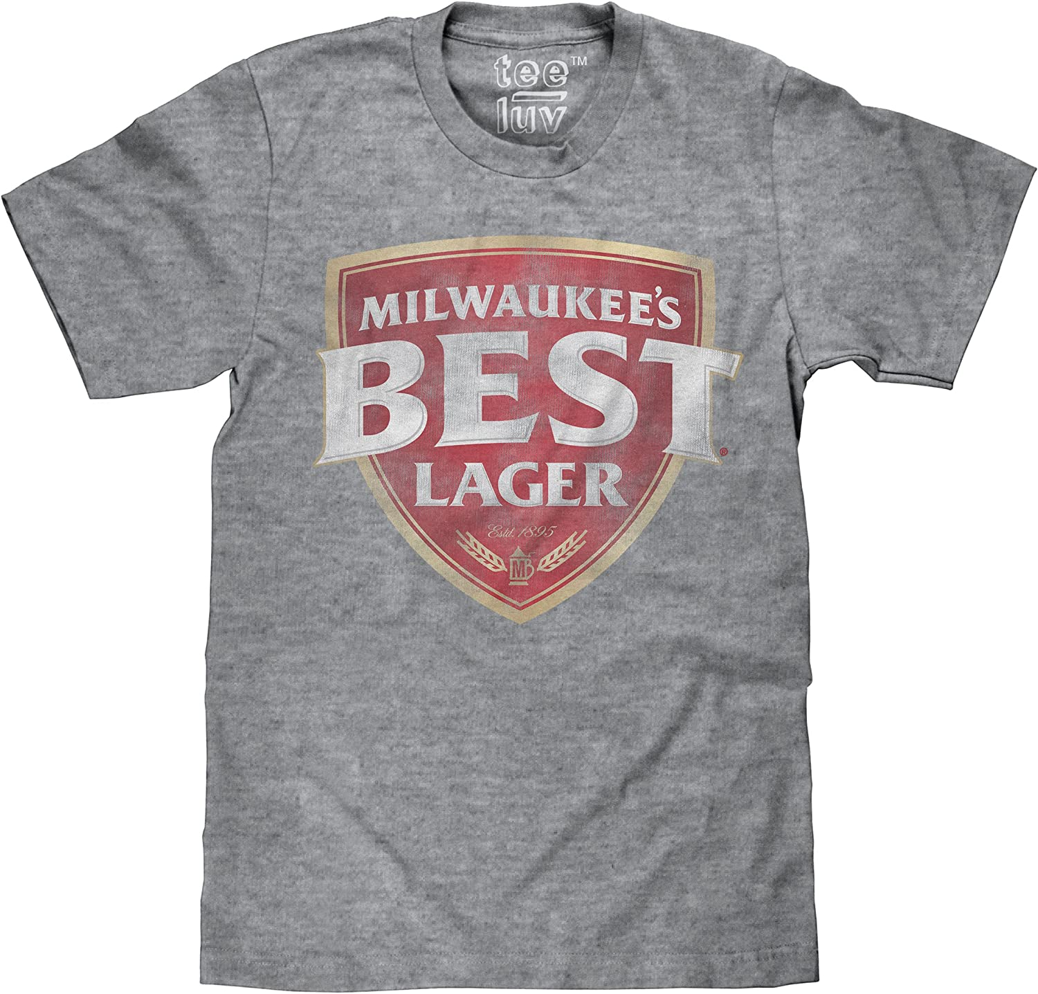 Amazon.com: Tee Luv Milwaukee's Best Lager T-Shirt - Retro ...
