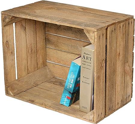 Caja de fruta para decoración (madera), diseño de mesita o estante ...